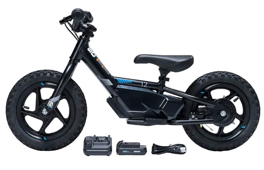 STACYC 12eDRIVE electric bike and accessories